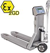 Serie TPWX2GDI: ATEX zertifizierter Gabelhubwagen für Ex-Zone 1 und 21, sowie 2 und 22