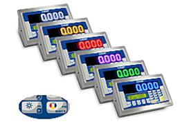 Serie 3590ED COLOUR: Gewichtsanzeige mit leuchtstarker & farblich anpassbarer Anzeige