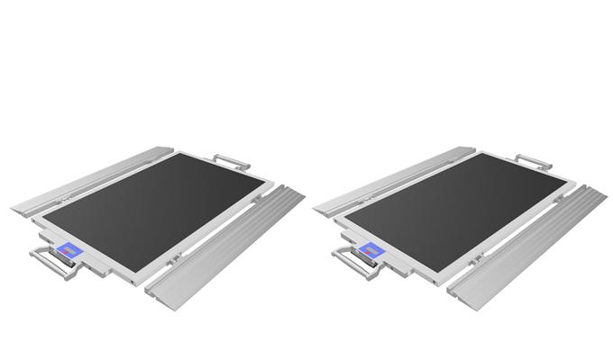 Serie BFX: Mobile Achslastwaage für Nutzfahrzeuge