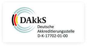 DAkkS Deutsche Akkreditierungsstelle, Bureau Veritas Certification, NMI Recognised